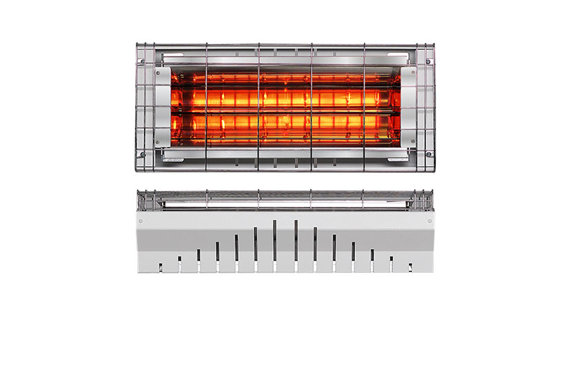 RADIANT INFRARED HEATER WITH A SHORTWAVE