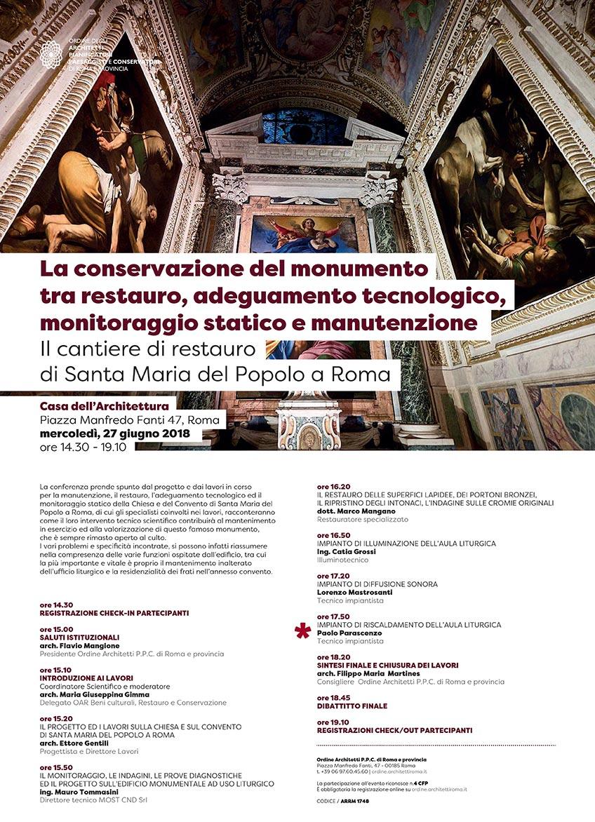 Conferenza: Il riscaldamento nei luoghi di Culto Roma - Ordine degli Architetti P.P.C. di Roma e Provincia
