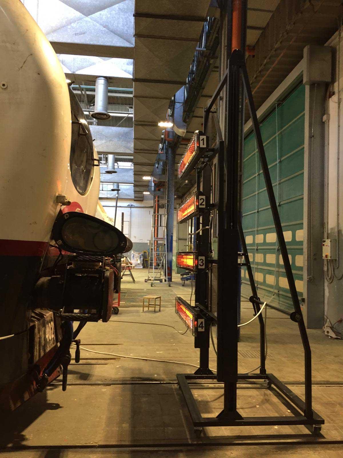 SPELLICOLATORE mobile per treni a raggi infrarossi