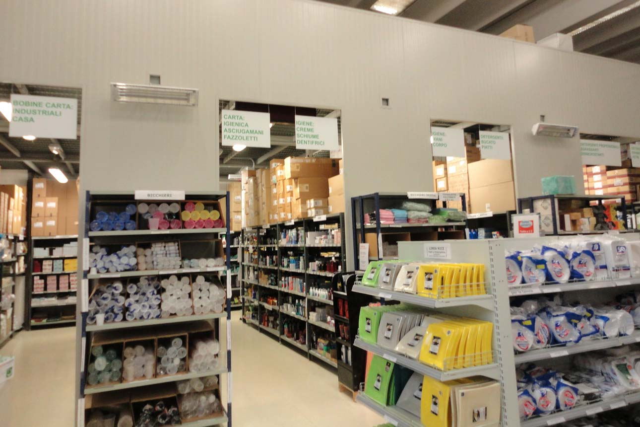 Lampade infrarossi riscaldanti per locale commerciale