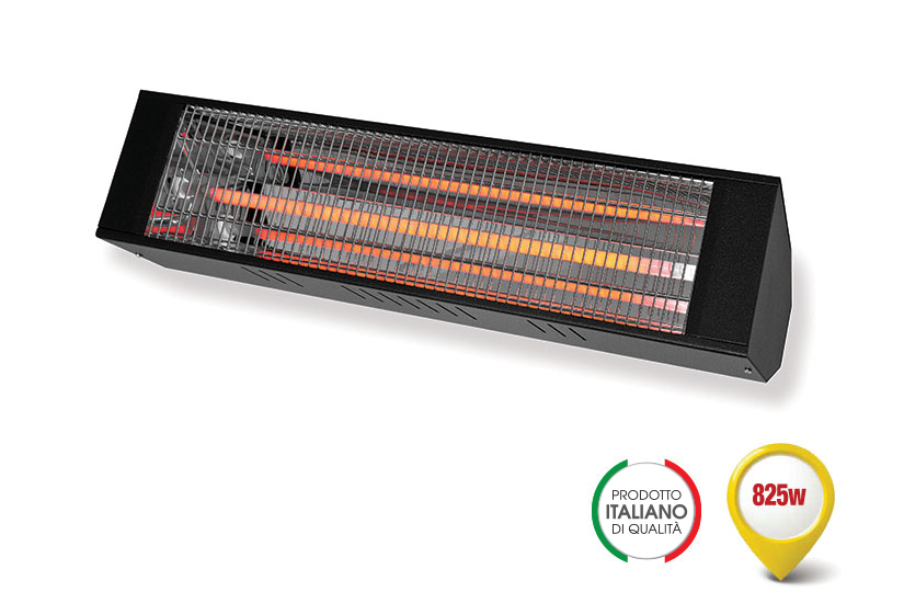 RADIANT INFRARED HEATER WITH A FAST MEDIUM-WAVE