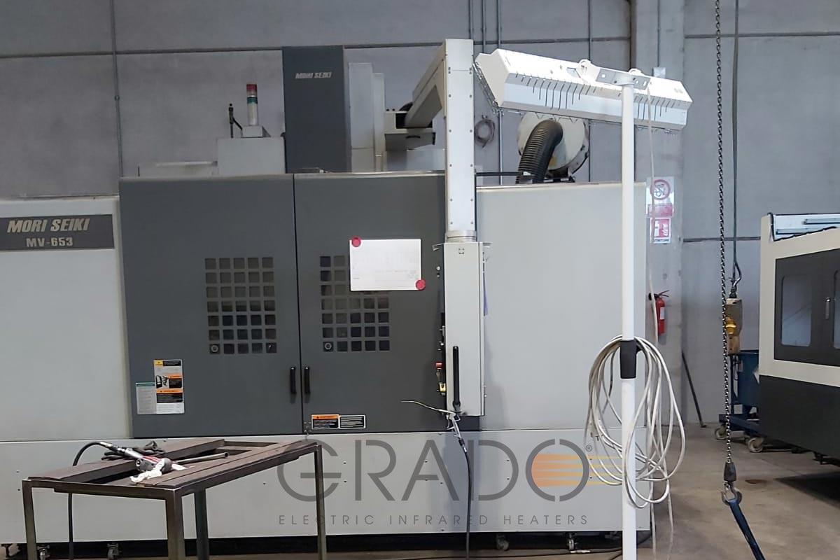 Lampada OMV 2250 con supporto Ewxind280-Wh presso trafilerie Fazzini