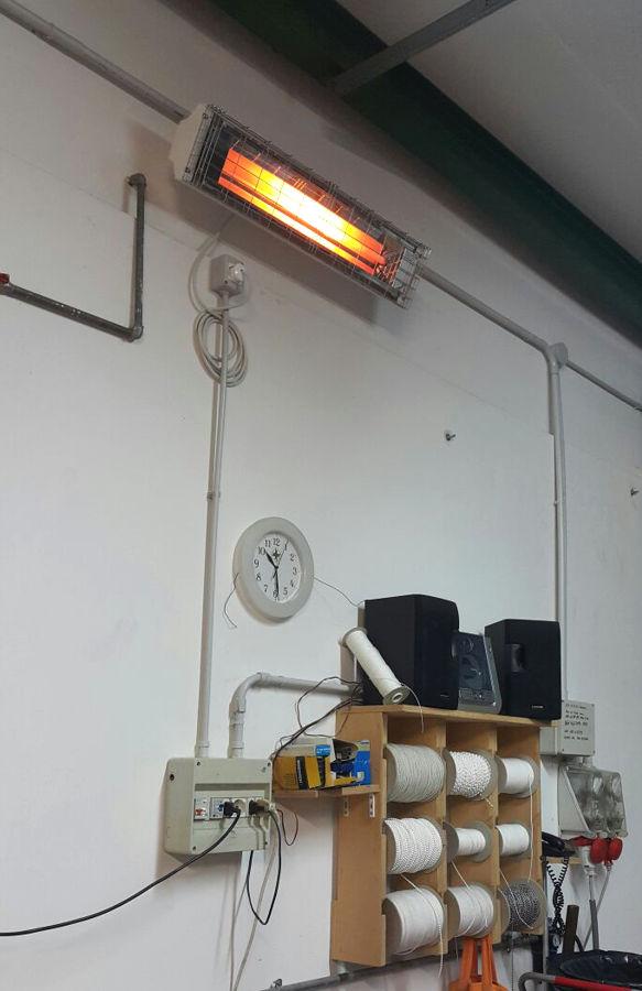 Riscaldamento per zona di lavoro