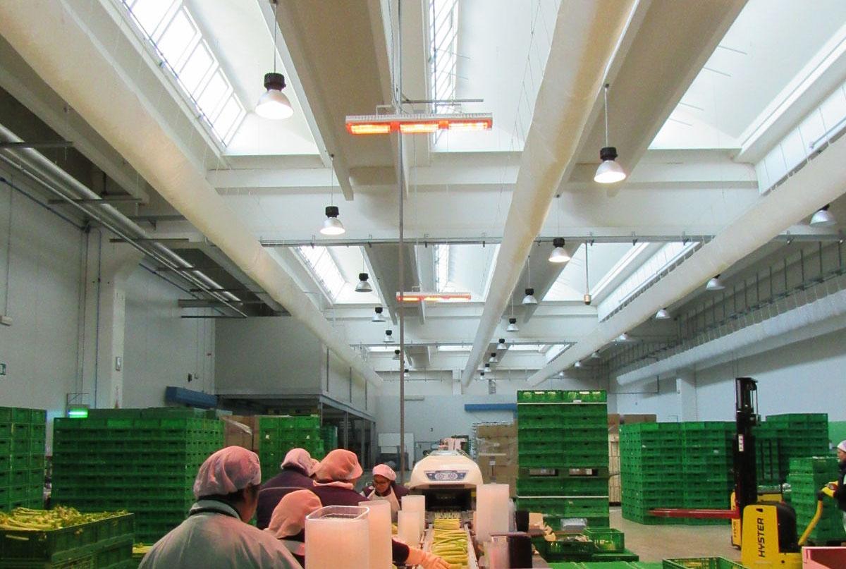 Riscaldamento infrarossi per processi produttivi